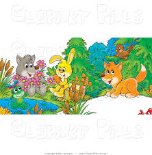 pal clipart of a cute cartoon wolf holding flowers a frog on a