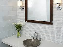 bathroom backsplash tile ideas mosaic tile bathroom backsplash brown painted wooden frame glass