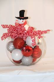 christmas bubble bowl centerpiece black white and silver
