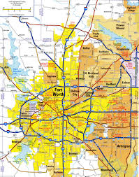 United States City Map by Highways Map Of Fort Worth Cityfree Maps Of Us
