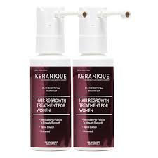 keranique hair regrowth treatment for women 2 pack