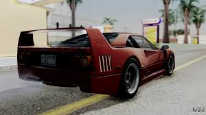 ferrari f40 1987 with up lights ivf for gta san andreas