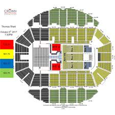 Pepsi Center Seating Map Thomas Rhett Crown Complex
