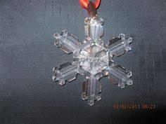 swarovski crystal christmas ornament snowflake ornaments