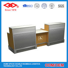 Double Reception Desk by White Round Information Counter Airport Reception Desk Airport