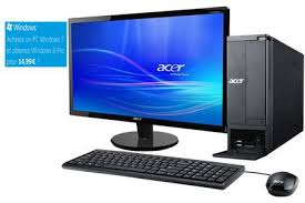pc de bureau acer pc de bureau acer aspire x1430 002ob21 5 darty