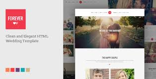 Wedding Site Forever Responsive Html Wedding Template By Doubleeight