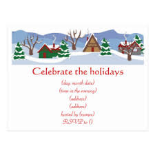 holiday party invitation postcards zazzle