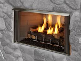 outdoor lifestyles villa gas fireplace heat u0026 glo