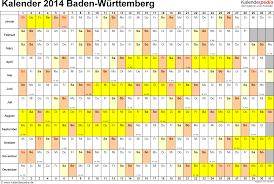 Baden Wuttemberg Kalender 2014 Baden Württemberg Ferien Feiertage Excel Vorlagen