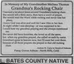 Jesus Has A Rocking Chair The Family Thomas From Montgomery County Pa Through Bates County Mo