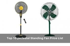 Best Pedestal Fan For Bedroom Top 10 Best Pedestal Standing Fan Price List India U0026 Comparison 2017