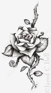rose tattoo i want this on my shoulder with a red one and thorn