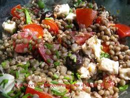 cuisiner les lentilles vertes salade de lentilles vertes aux 2 tomates mozzarella et olives