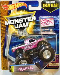 monster jam madusa truck amazon com wheels monster jam 2017 release 3 10 team flag