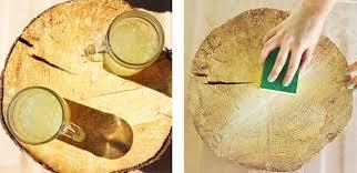 Tree Stump Side Table Diy Natural Tree Stump Side Table Justinecelina