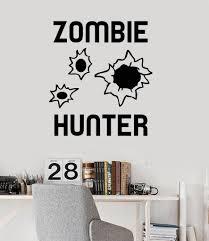 vinyl wall decal zombie hunter teen boy room stickers mural vinyl wall decal zombie hunter teen boy room stickers mural ig3670