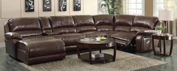 Motion Sectional Sofa Mackenzie Motion Sectional Sofa 6pc Chestnut 600357 By Coaster