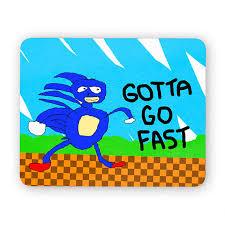 Meme Mouse Pad - sanic the hedgehog gotta go fast funny desk mouse pad meme
