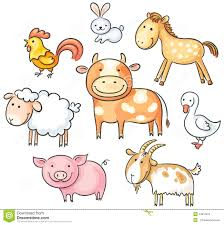 cartoon farm animals stock vector image 44610073