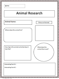 animal report template common animal research graphic organizer k 5 computer lab