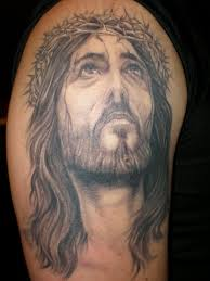 jesus face on back christian tattoo photos pictures and