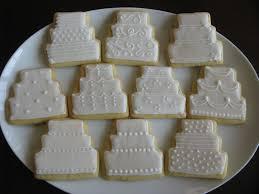 wedding cake cookies on plate lindsay u0027s bridal shower stuff