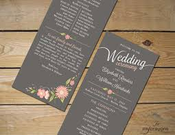 wedding program stationary 13 best order of service wording images on wedding