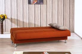 Living Room With Orange Sofa The On Orange Futon Cabinets Beds Sofas