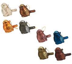 ed on air s 8 mercury glass bird ornaments by degeneres