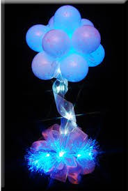 Light Up Topiary Balls - 10 pcs led light up balloons glow flash lights mixed color