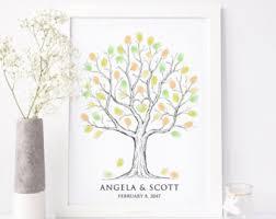thumbprint tree etsy