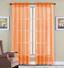 buy best orange curtains u2013 ease bedding with style