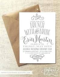 brunch invitation wording bridesmaids luncheon invitations 9256 and front bridal dinner