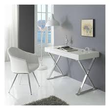 bureau contemporain blanc chrome zendart design
