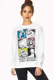forever 21 story sweatshirt in white lyst