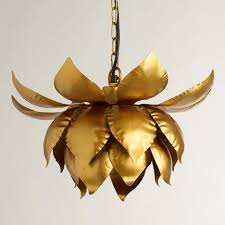 Lotus Pendant Light Gold Lotus Hanging Pendant L World Market