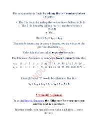 arithmetic sequences and series 1
