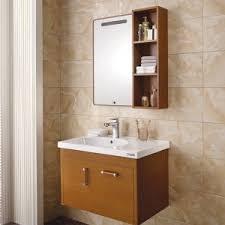 melamine bathroom cabinets china oppein modern brown melamine wooden bathroom cabinets op13