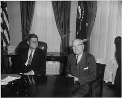 file photograph of harry s truman and jfk in the oval office jpg