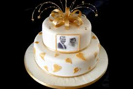 golden wedding cakes 7 golden anniversary cake ideas bash corner