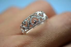 heart shaped wedding rings heart shaped white gold pave diamonds wedding band engagement ring