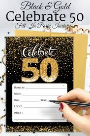 Invitation Cards For 50th Birthday Party 91 Best 50th Birthday Party Ideas Images On Pinterest Birthday