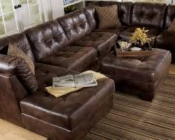 Brown Leather Tufted Sofa by Furniture Classic Brown Leather Sectional Tufted Couch With
