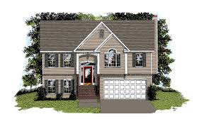 traditional split level home plan 2068ga architectural designs