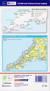 Map Of West Coast A Z Adventure Map North Devon U0026 Somerset