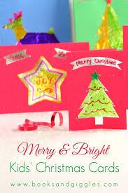 merry u0026 bright kids u0027 christmas cards crafts handmade christmas