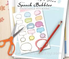 cute daily planner template speech bubbles printable sticker daily lifestyle write text this is a digital file