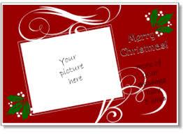 christmas card templates add your own photo printable christmas