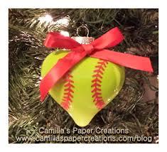 softball ornaments all i make